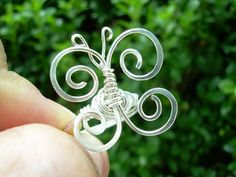 Silver Butterfly Ring Wire Butterfly Silver by KiawahCollection, $12.00