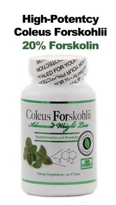 Coleus Forskohlii Extract – High Potency Advanced Weight Loss   Standardized to 20% Forskolin   100% Pure Premium Coleus Forskohlii Root Extract   125mg – 120 veggie capsules