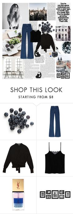 """""""II. The progress of the soul"""" by la-rosy ❤ liked on Polyvore featuring The Seafarer, Chanel, MANGO, Yves Saint Laurent, outfit, denim, YSL, vogue and minimalistic"""