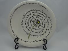 He loves me he loves me not decorative plate by Higglebottoms, $35.00
