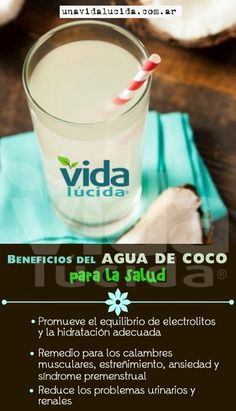 Beneficios del agua de coco para la salud.