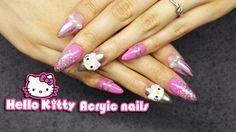 How Too: Hello kitty Acrylic Nail Art   cute nail design