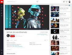 YouTube Redesign by Mario Maruffi