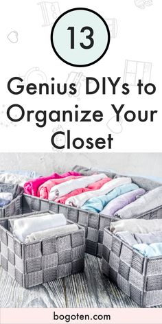 You want an organized closet. It makes life easier. You don't have to spend a ton to get one. DIY Closet Organization is real and it can help you.