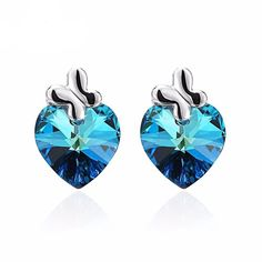 Kyanite Stud Earrings-Blue, Water, It doesn't get any better than this-Daania's