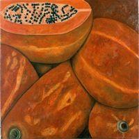 Papayas, 1999, óleo/lino