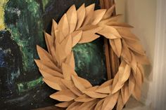 Aprons & Ambition: Upcycled Wreath