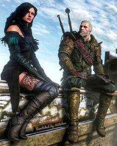 The Witcher Geralt and Yennefer. Screen of Game - The Witcher Wild Hunt. Witcher 3 Yennefer, Yennefer Of Vengerberg, The Witcher Game, The Witcher Wild Hunt, Art Sketches, Videogames, Highlights, Photo Wall, Gaming