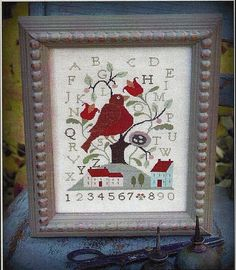 Primitive Folk Art Cross Stitch Pattern   by PrimFolkArtShop, $7.00
