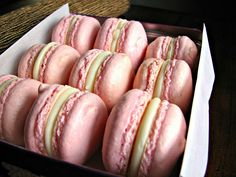 Macarons with White Chocolate Peppermint Ganache