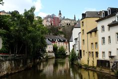 LUXEMBOURG CITY: The historic Grund quarter of Luxembourg City. This picturesque place is like a village within the city. Located below the city on the banks of the Alzette river, the old quarter of Grund dates back to the 10th century and is a UNESCO World Heritage Site..