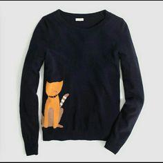 "Spotted while shopping on Poshmark: ""j crew// intarsia cat sweater""! #poshmark #fashion #shopping #style #J. Crew #Sweaters"