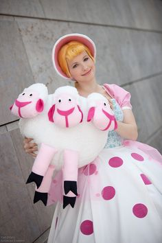 Toy Story - Bo Peep. @Molly Simon Workman you should dress up like this for Halloween! And Adam can be Woody. :)