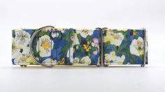 Denim Garden Dog Collar Martingale Buckle or Tag by dogsbythebay, $19.99