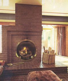 The House Book, 1974 Fireplace -- Okay, so this is one of the most EPIC fireplaces I have ever seen.