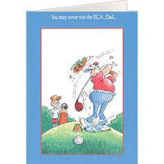 Funny Golf Greeting Cards For Birthdays Christmas