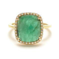Getana Emerald and Diamond Ring
