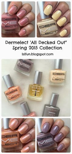 Dermelect Nail Polishes Spring 2015 Collection All Decked Out #dermelectchallenge