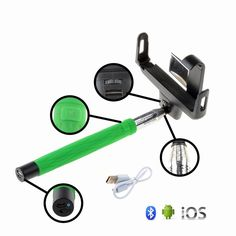 Monopod Selfie Stick Telescopic & Bluetooth Wireless Remote Holder With Mirror in Cameras & Photography, Tripods & Supports, Tripods & Monopods | eBay