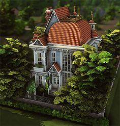 Sims 4 House Building, Sims House Plans, Tiny Beach House, Casa Anime, Clapboard Siding, Sims 4 House Design, Casas The Sims 4, Sims Four, Sims 4 Build
