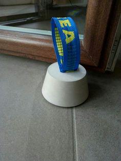 IKEA hack DIY doorstop concrete
