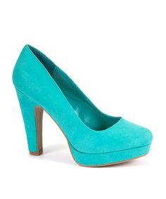 Turquoise (Blue) Turquoise Platform Court Shoes  | 271166148 | New Look
