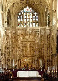 The 11th-century Winchester Cathedral, Hampshire, England. Not only one of the prime example of the characteristics of English Gothic architecture, but also the burial place for Jane Austen.