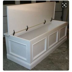 Add hinge to breakfast nook bench for additional storage space