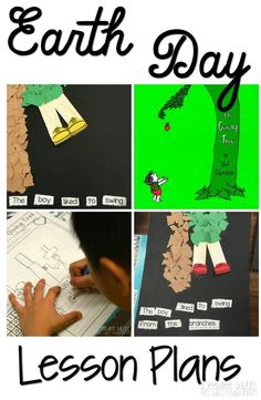 Earth Day Lesson Plans for Kindergarten.  Students respond to The Giving Tree