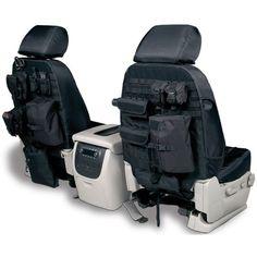 Coverking, Front Bucket Seats, Tactical Seat Covers, Ballistic Black, Right Hand Drive Export Jeep Wrangler Unlimited JK Export 4 Door