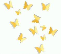 Muursticker 3D vlinders