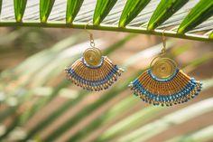Hilo hand made mascramee earrings