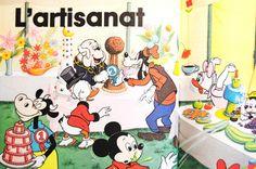 Disney vintage. A la campagne. Vintage Children's Book : 1981. Vintage illustration.