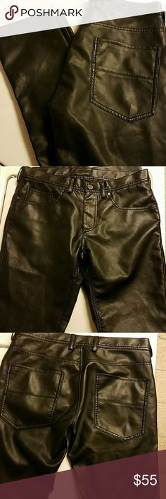 Zara Man Faux Leather Pants -NWOT Super soft and nice- Definitely not gaudy - very stylish looking- 30x32 Zara Pants