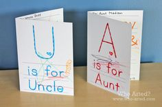 """Free """"Aunt and Uncle Day"""" cards! Just print, color and mail! (Aunt and Uncle Day is July 26th)"""