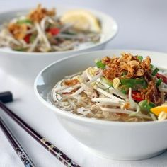 Vietnamese style Chicken Noodle soup