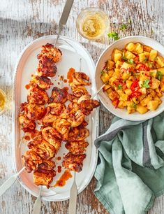 This kebab recipe has it all: spicy chicken, sweet caramelised pineapple and plenty of refreshing mint. The kebabs are great on their own as a starter, or with some rice or noodles as a main dish.