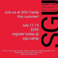 I'm heading to @sgucamp this summer with our church youth group& I'll be the swag lady with all the merch to sell.  if you're looking for an awesome camp [grades 6-12] this is the place to be.  message me for details.  #youth #msm #hsm #uthmin #youthmin #studentministry #jesus #camp #summercamp #NoPlaceIdRatherBe #biblecamp #jesuscamp #myfavoriteplace