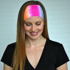 Yoga headband Womens wide tie dye headband by WildandFreeFashion