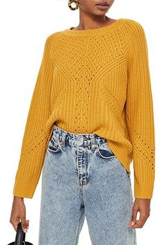 Shop a great selection of Topshop Rib & Pointelle Stitch Sweater - Women's fashion Sweater. Find new offer and Similar products for Topshop Rib & Pointelle Stitch Sweater - Women's fashion Sweater. Fall Fashion Trends, Fall Trends, Autumn Fashion, Fashion Spring, Cute Christmas Party Outfits, Christmas Gifts, Fall Sweaters, Sweaters For Women, Mustard Sweater