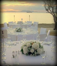 ROSETTA EVENTI Greece Wedding, Table Settings, Table Decorations, Furniture, Home Decor, Greek, Dreams, Weddings, Wedding In Greece