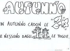 maestra Nella: Autunno - poesia illustrata Expressions, Crafts For Kids, Activities, Education, Bullet Journal, Canti, Hobby, Biscotti, Alphabet
