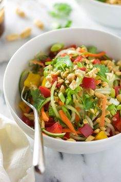 Thai Cucumber Salad with Peanut Chili Vinaigrette.