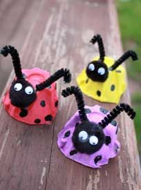 Earth Day Craft: Adorable Egg Carton Lady Bugs | Marin Mommies