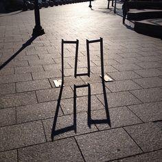 "Shadow ""H"" photograph by Henry Sene Yee #typography"