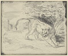 Eugène Delacroix (French,1798–1863). Tiger at a Standstill, 1854. The Metropolitan Museum of Art, New York. Jacob H. Schiff Fund, 1922 (22.63.100).