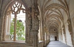 TOLEDO - MARCH 8  Gothic atrium of Monasterio San Juan de los Reyes or  Monastery of Saint John of the Kings   in Toledo, Spain  Stock Photo