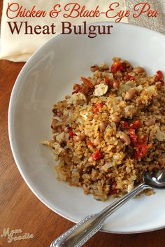 Recipe for One: Chicken, Black Eyed Pea & Sun-Dried Tomato Bulgur