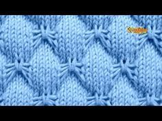 Cómo Tejer Punto MARIPOSA - 2 agujas (476) - YouTube Baby Knitting Patterns, Lace Knitting, Knitting Stitches, Stitch Patterns, Crochet Patterns, Butterfly Stitches, Big Knit Blanket, Crochet Baby Clothes, Knitting Videos