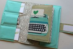 Cute business card holder/wallet tutorial  *makes me wish I still had my sewing machine*